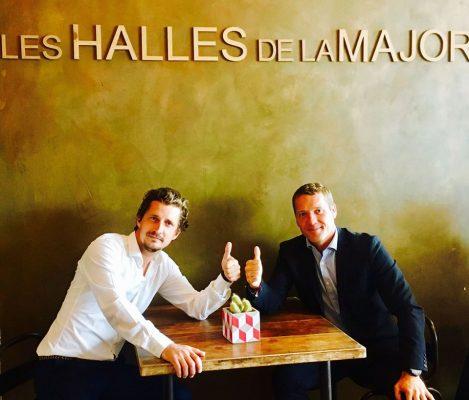 MARSEILLE-PARIS EN 13 TRAILS  Lionel Mari avec Antoine Siffrein Blanc (Les Halles de la Major)