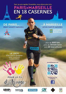 TRAIL MARSEILLE-PARIS EN 18 CASERNES   Affiche