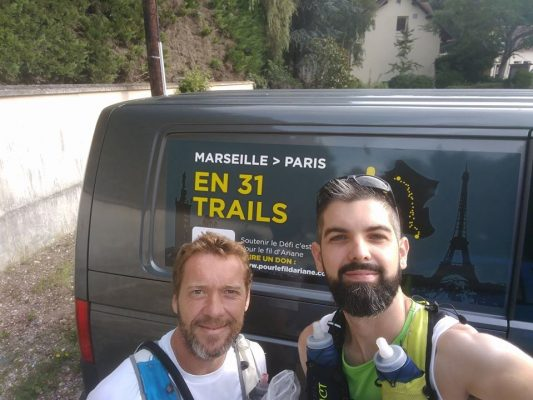 MARSEILLE-PARIS EN 13 TRAILS  Sur la route